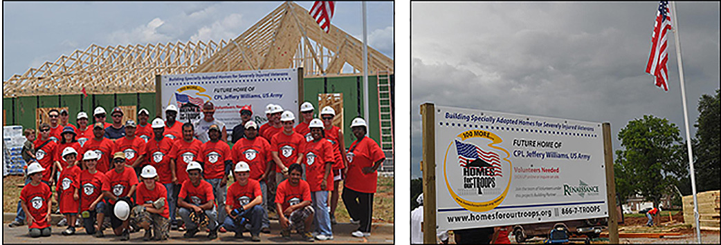 The team of Wolde flooring cares about our troops and actively participates in helping those in need.