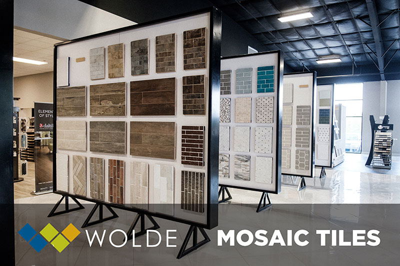 Mosaic Tiles are the perfect option for your next project - Come see our selection at Wolde Flooring in Madison, AL